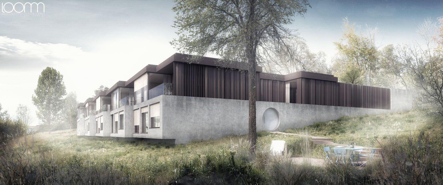 3d Architektur Visualisierung think architecture ag meilen patiohäuser stocklenweg