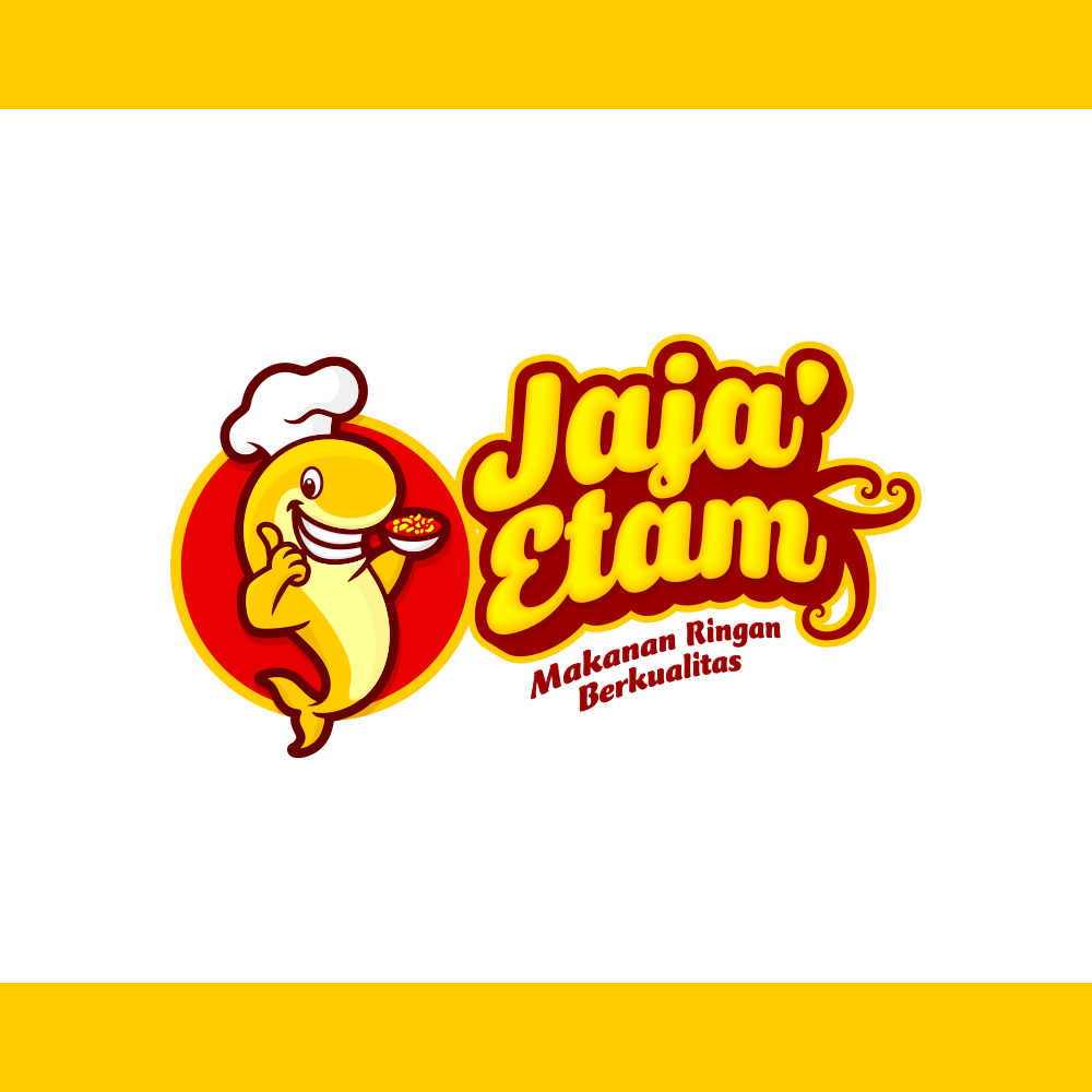 Portfolio Desain Logo untuk Makanan Ringan Jaja Etam