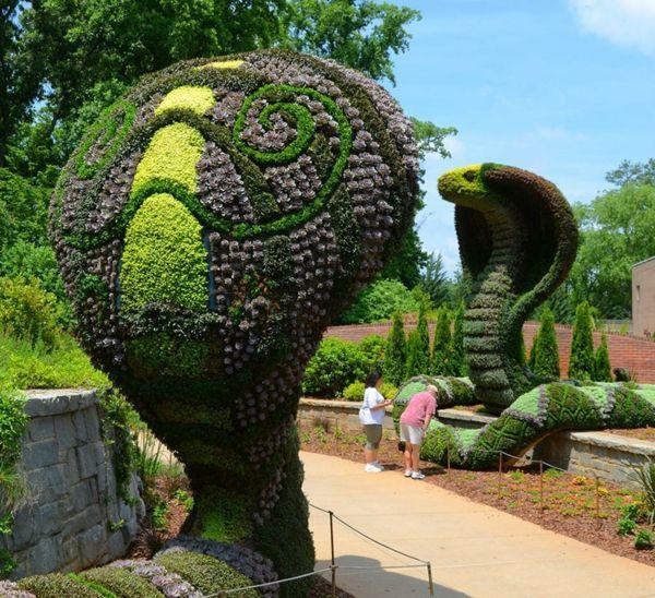 nachhaltige garten kunst skulpturen pflanzen, gartenfiguren aus pflanzen - wunderliche gartenkunst in atlanta, Design ideen