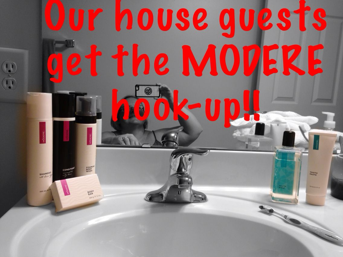 We make sure our house guests use the best!!!! Use #946210 to get $$ off your order!! www.modere.com/946210 #toxinfree #safeproducts #simple