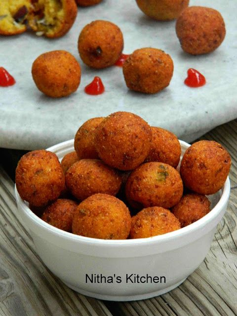 Nitha Kitchen Cauliflower Hushpuppies Hushpuppy Recipe Hush Puppies Recipe Recipes Vegan Snacks
