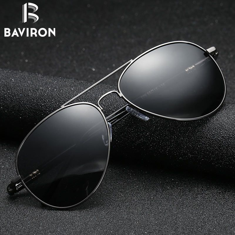 a28329ba5bf BAVIRON Men Polarized Sunglasses Men Retro Classic Pilot Glasses Brand  Goggoles uv Protection Metal Frame Oculos