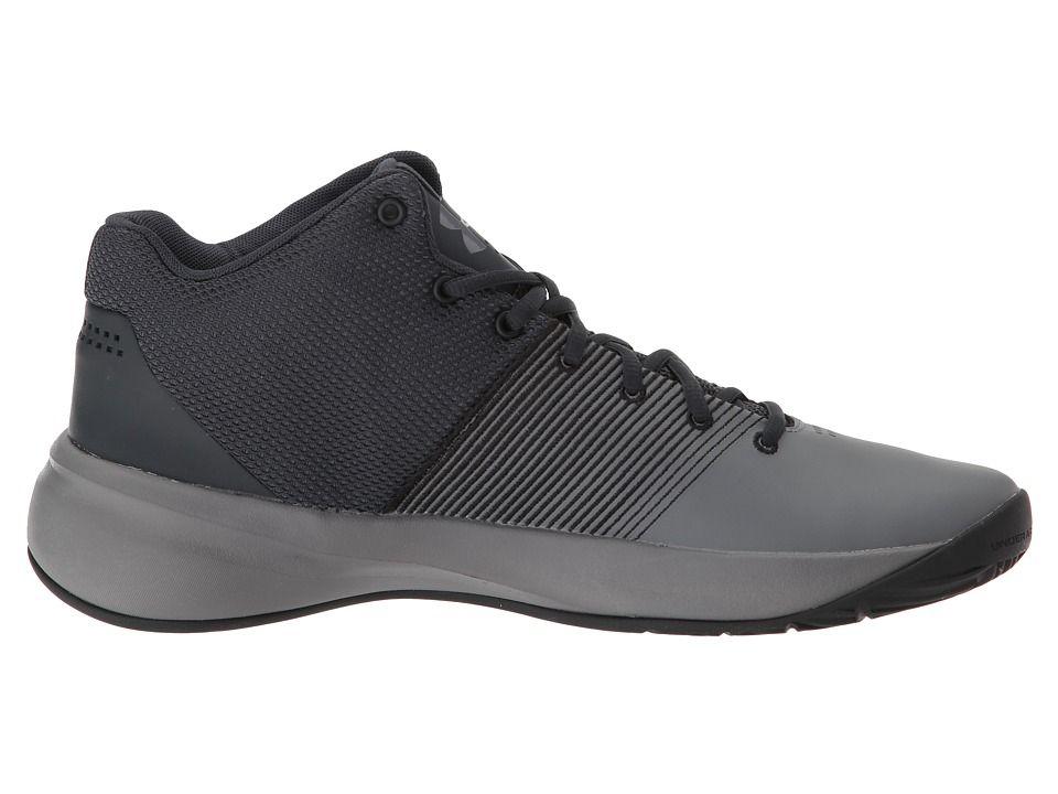cf58445158c2 Under Armour UA Surge Men s Basketball Shoes Black Zinc Gray Zinc Gray  Men s Basketball