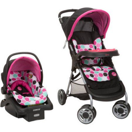 080697bd35aa1 Disney Baby Lift and Stroll Travel System, Black Minnie Dottie, Multicolor