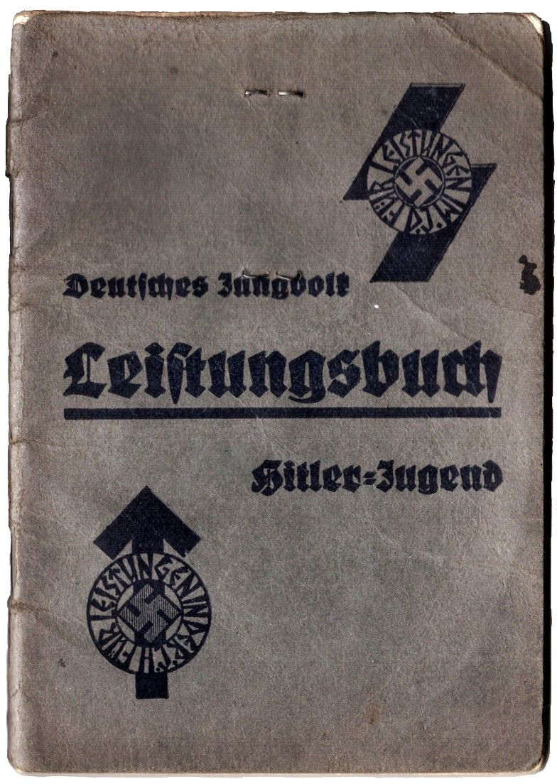 this is a leistungsbuch performance booklet of a hitler  this is a leistungsbuch performance booklet of a hitler youth