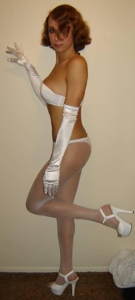 stockings Trap wearing