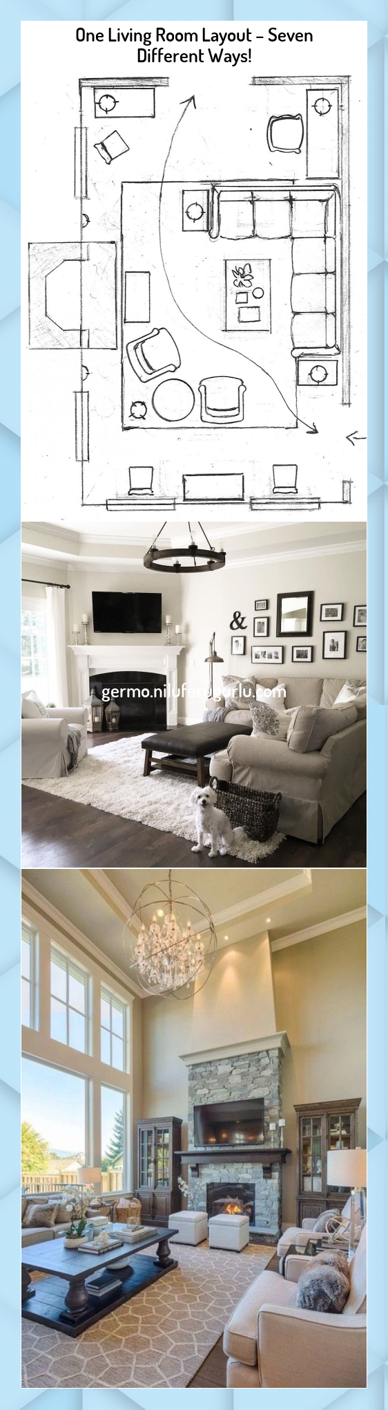 One Living Room Layout  Seven Different Ways