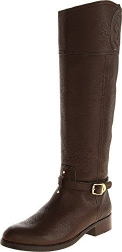 1c654abe290b Tory Burch Boots Marlene Tumbled Leather Riding Boot Flat (8.5 ...