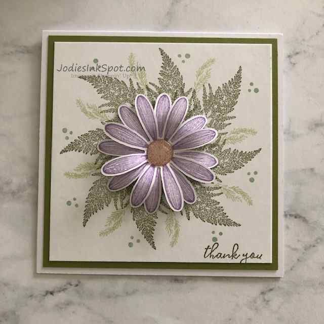 Photo of Daisy Lane Thank You Card Featuring Stampin 'Up! – Jodie's Ink Spot