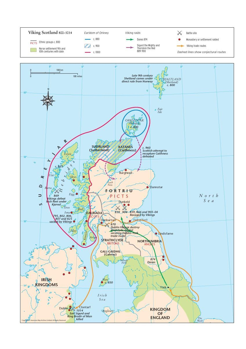 Map Of England 870.Map Of Viking Scotland 800 1014 Scottish Maps And Resources