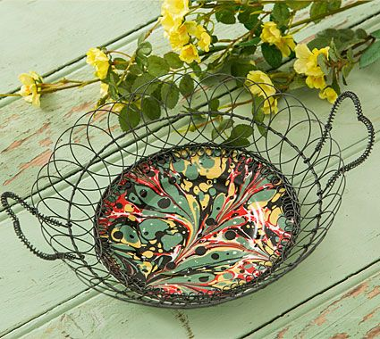Tea Plates in Wire Holders | Re-found Objects
