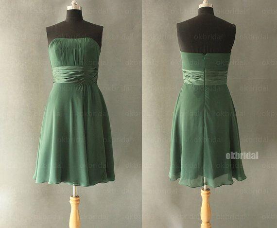Grüne Brautjungfer Kleider, grün Brautjungfer Kleid, günstige ...
