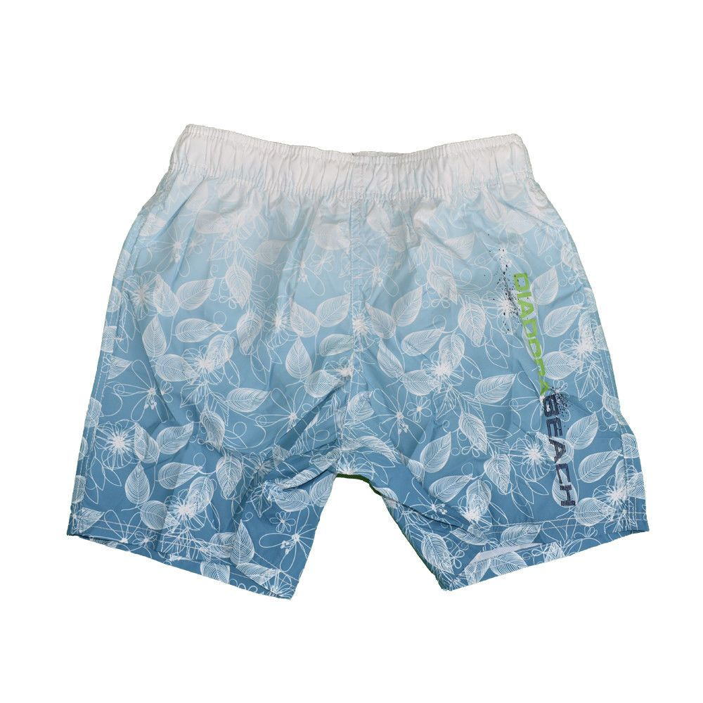Diadora Costume da Bagno Uomo Boxer Mare Piscina Nuoto Beachwear Bianco Blu d8658c4e9c5