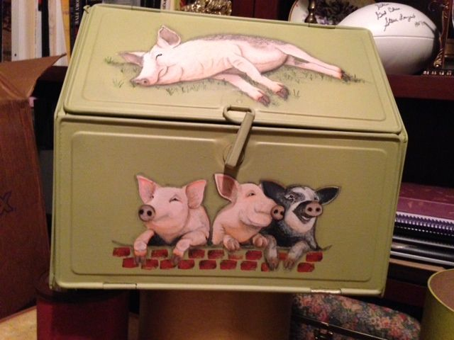 Cat In A Bread Box Impressive Pig Bread Box  My Art  Pinterest  Bread Boxes And Pig Stuff Design Ideas