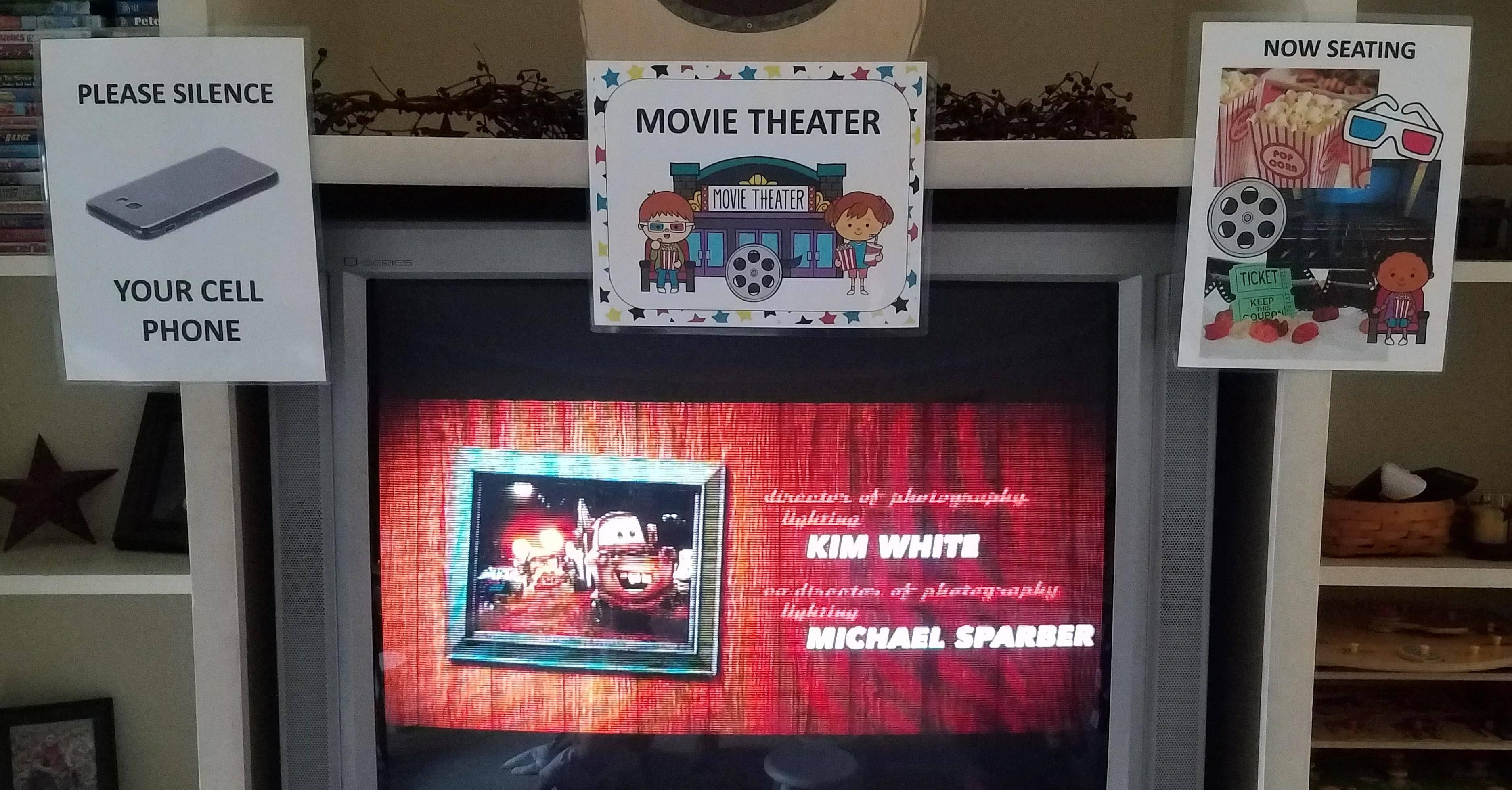 Pre K Will Love To Create Their Own Movie Theatre With