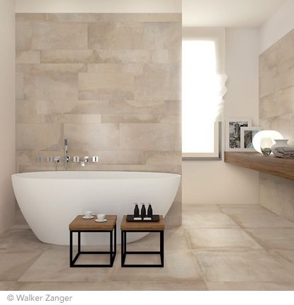 On Floor And Walls Sand Natural 24 X 24 With 12 X 47 And