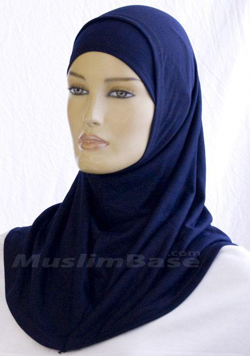 Hijab - Two Piece - Navy Blue http://www.muslimbase.com/clothing/hijabs/two-piece-hijab/hijab-piece-navy-blue-p-4050.html