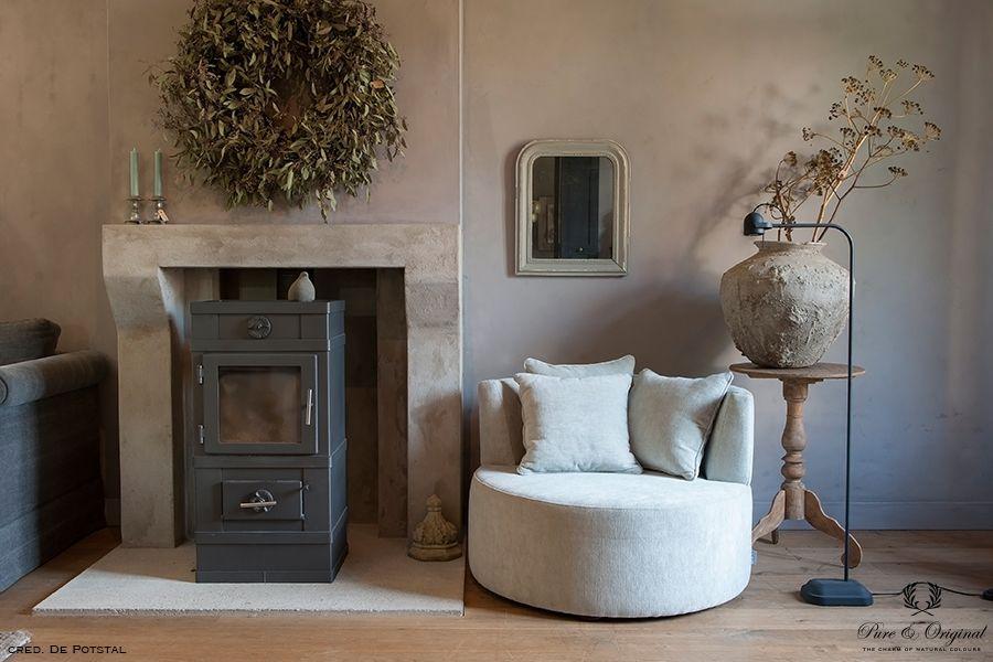 Fresco kalkverf in de kleur Old Romance, toegepast in de woonkamer 2 ...