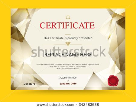 Geometry Diploma Certificate Template Design With International