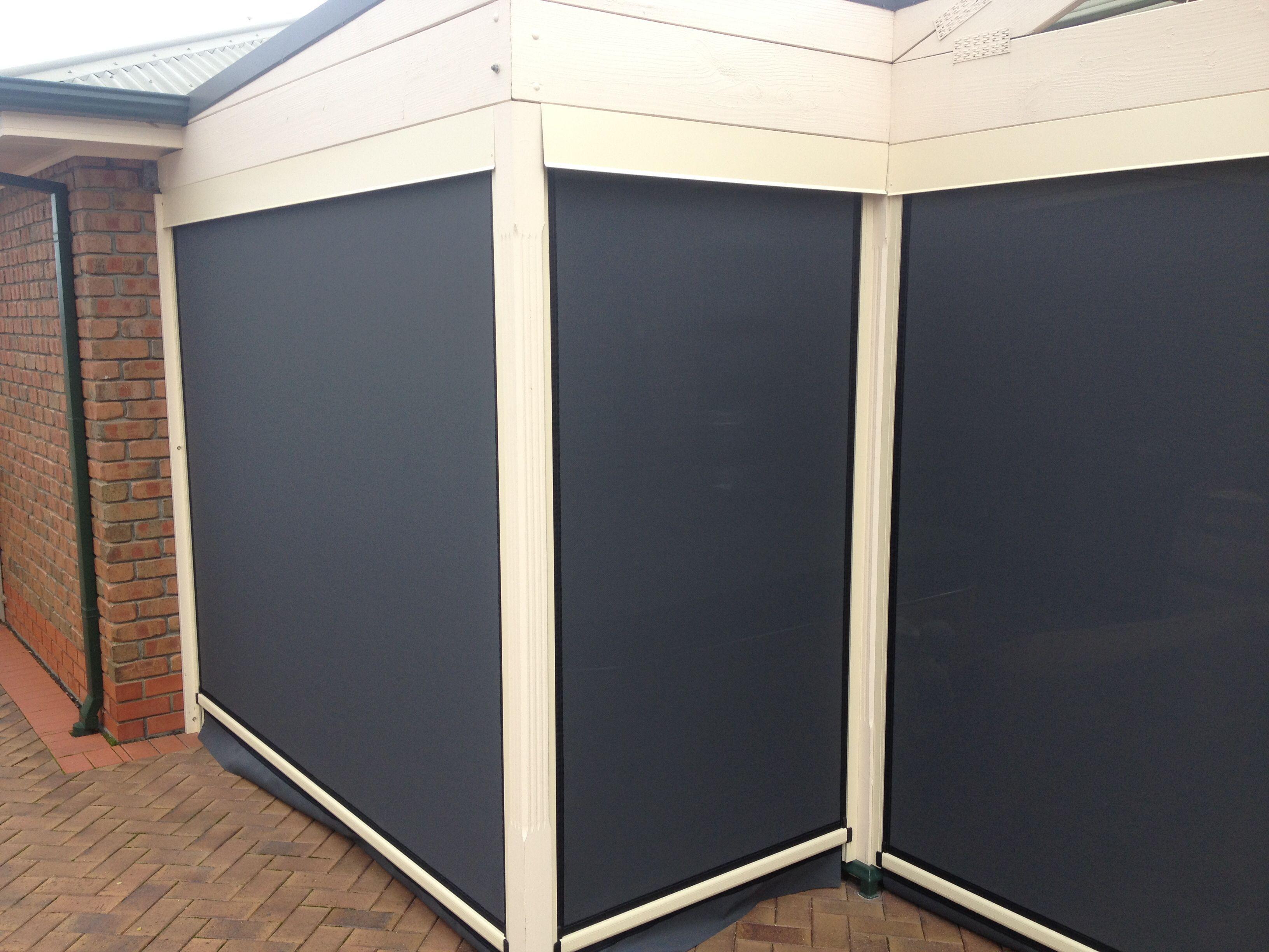 Ziptrak Cafe Blind In Hackham Verticalblindsdiy Bedroomblinds Outdoor Blinds Blinds Design Roller Blinds Design