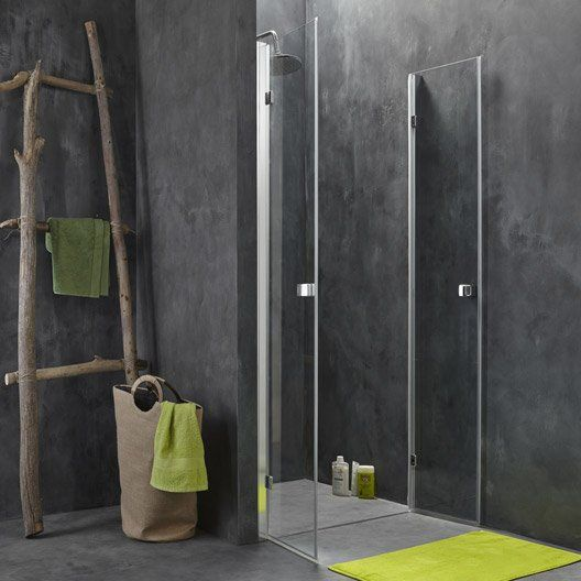 porte de douche battante 87 5 90 1 cm profil chrom premium2 salle de bain pinterest. Black Bedroom Furniture Sets. Home Design Ideas
