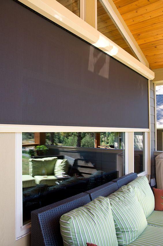 Executive Motorized Retractable Screen For Patios, Lanais And Porches    Phantom Screens