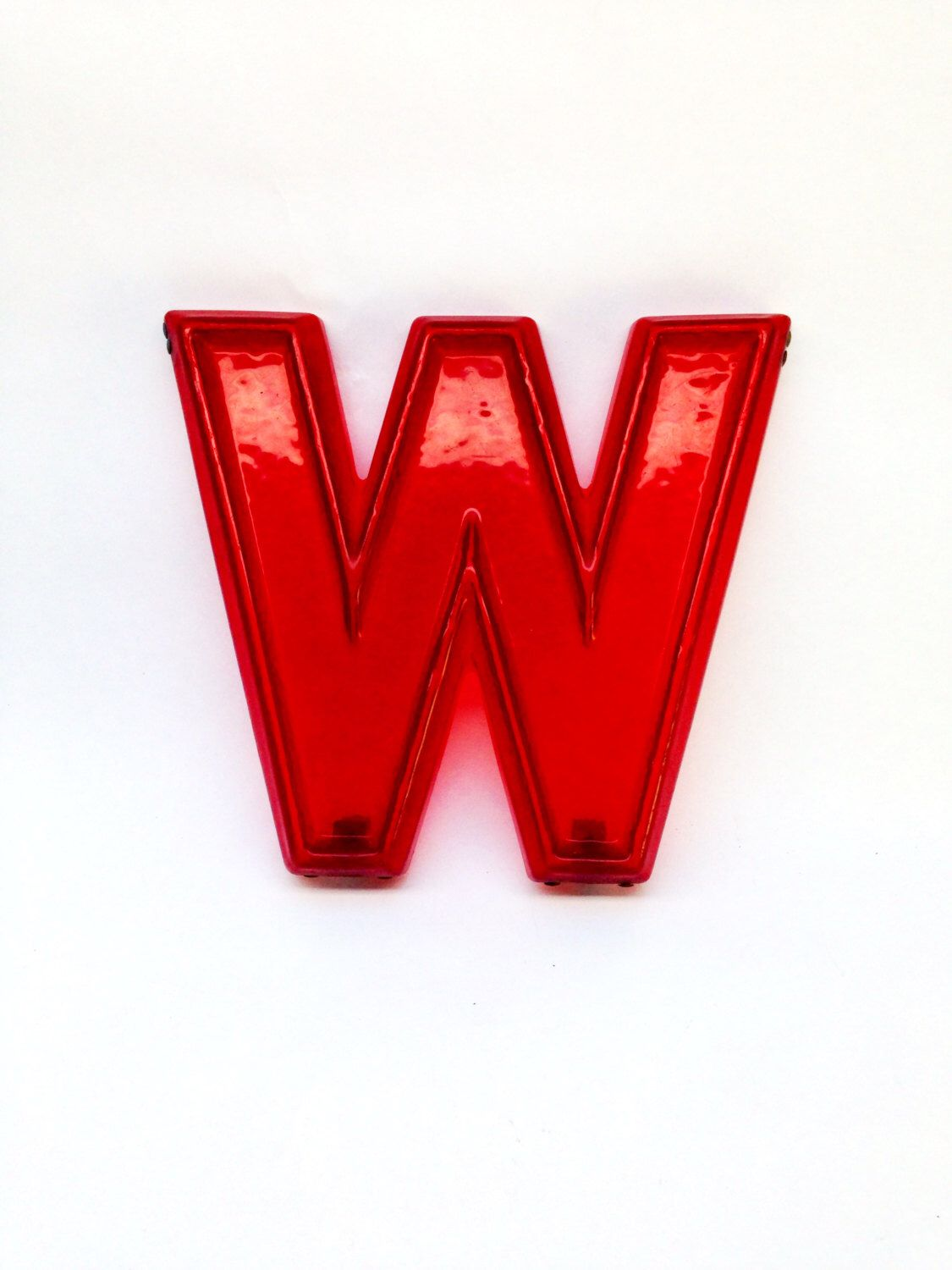 red red marquee letter