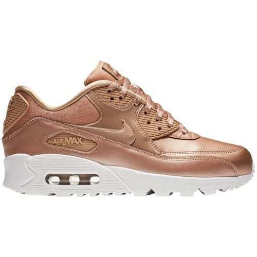 lowest price fb785 ad4d4 NIKE-Women-039-s-Air-Max-90-Leather-Running-Shoes-Sneakers-Metallic-Bronze- Rose-Gold