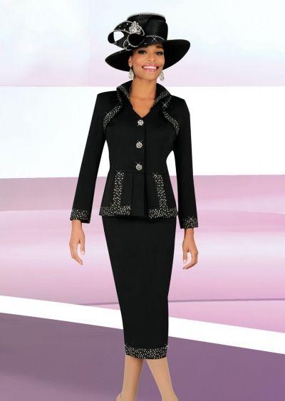e4e3b4e13e3 Ben Marc 47701 Womens Church Suit- Women s two piece church suit with  rhinestone trim