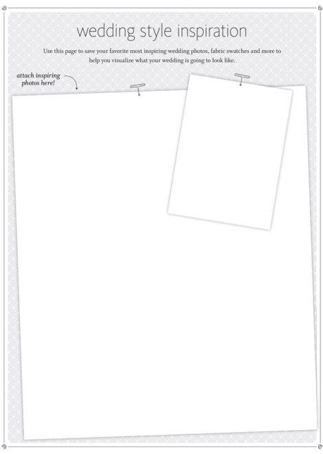 Wedding style inspiration printable for your planning binder | via loveyourdaydesignsblog.com | Wedding Wednesday: Get Organized