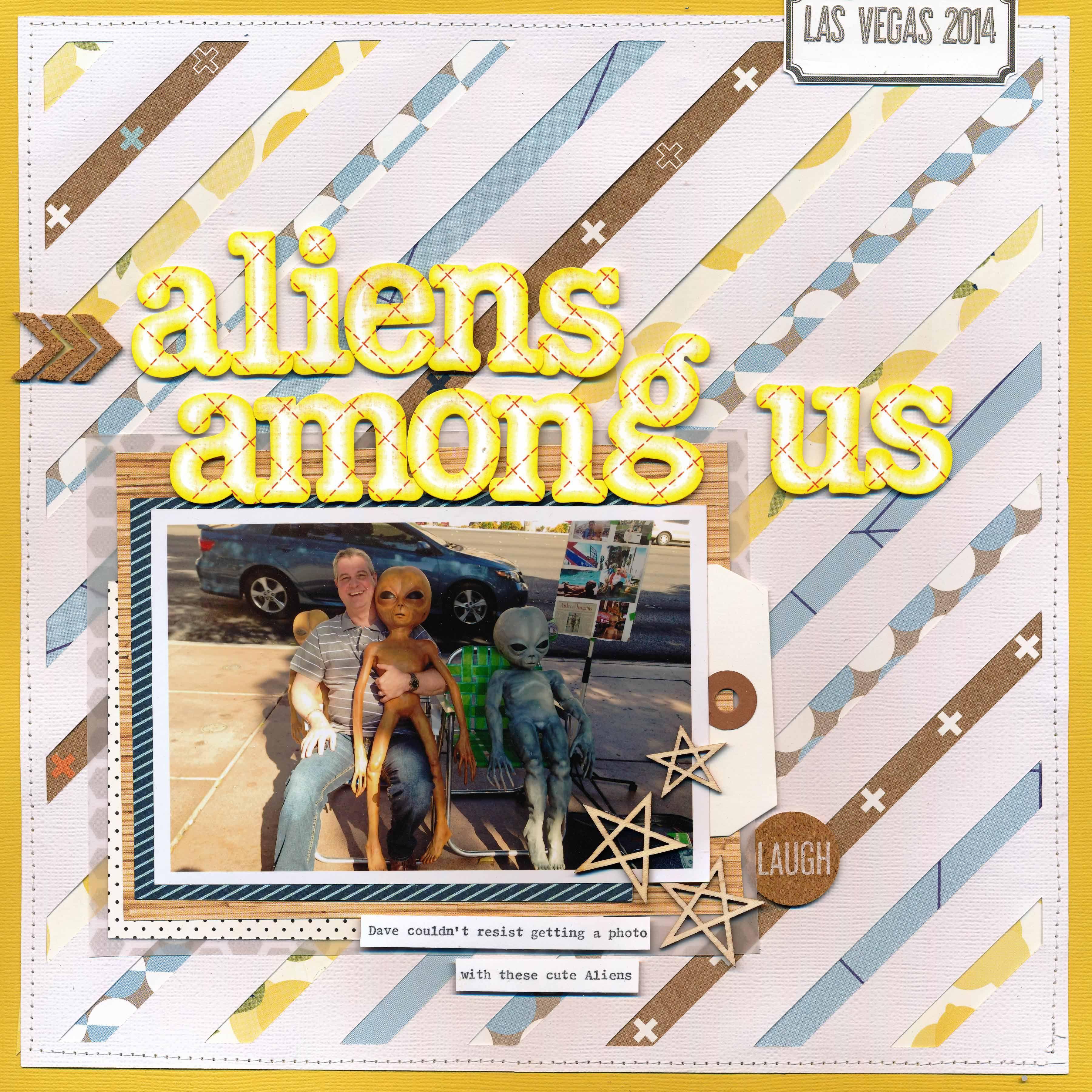 Aliens Among us Cute alien, Scrapbooking