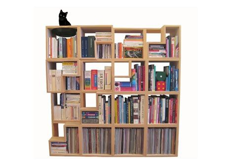 Cat Library Modular Stacking Bookcase Modern Bookshelf Bookcase Cat House Diy