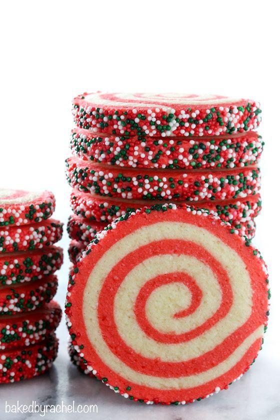 Easy Christmas Pinwheel Cookie Recipe From Bakedbyrachel A Festive