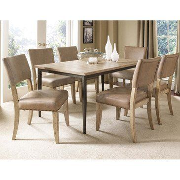 Charleston 7 Piece Rectangle Dining Table Set With Parson Chairs