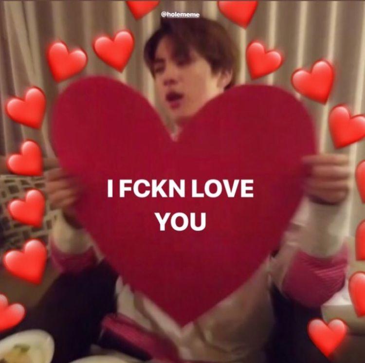 Pin By Brianna Monic On Heart Boo Bts Memes Hilarious Love You Meme Bts Memes
