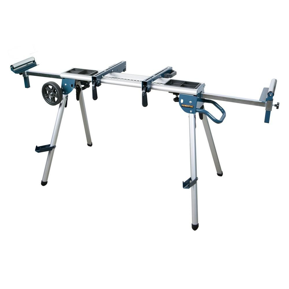POWERTEC Deluxe Rolling MIter Saw Stand with Trays-MT4008
