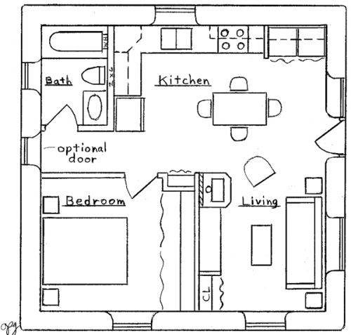 Neslly Access 30 X 30 Shed Plans Square House Plans Small House Plans House Blueprints