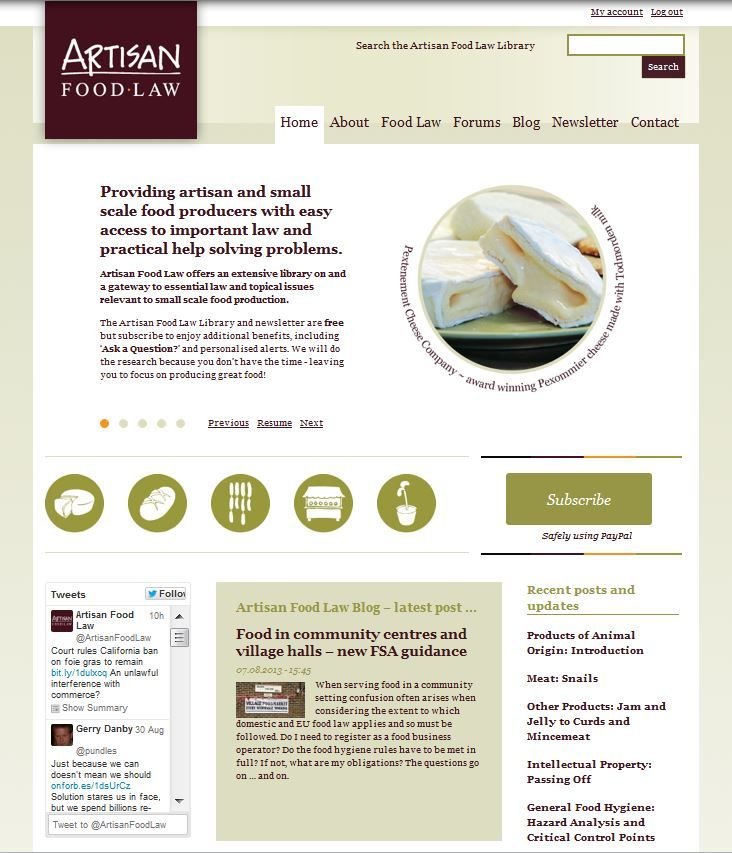 Artisan Food Law ... coming to a screen near you soon!