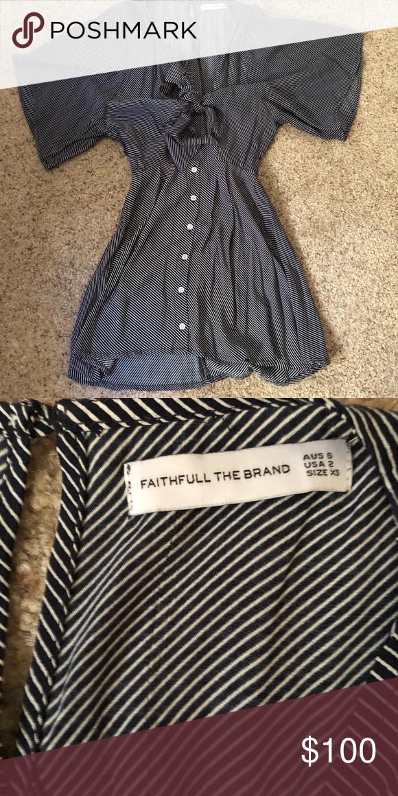 731683071e7f4 Faithfull vinci dress Navy and white stripe dress Faithfull the Brand  Dresses Mini