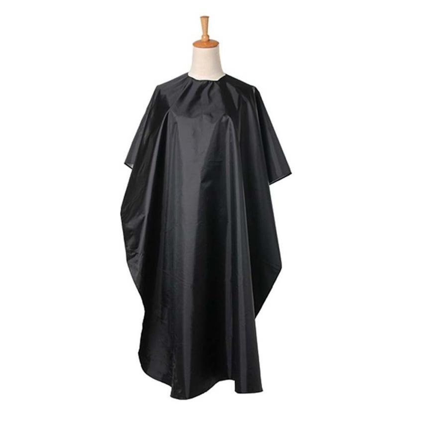 GRACEFUL Snijden Haar Waterdichte Doek Salon Kapper Gown Cape Mode Kappers Haarverf Perm Kapper ZWART JUL20