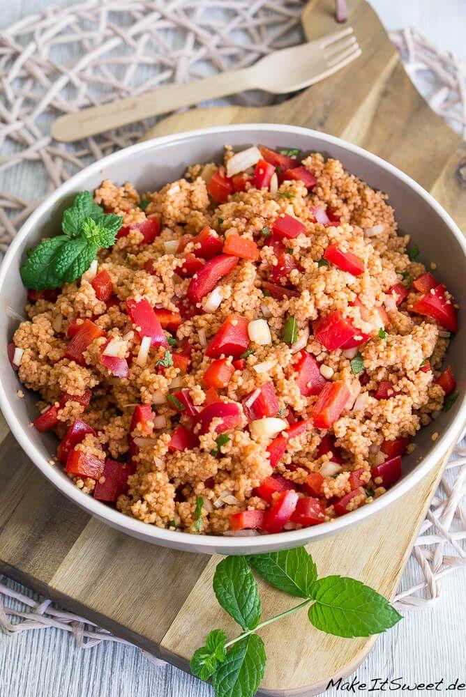 Photo of Couscous-Paprika-Salat mit Minze Rezept – MakeItSweet.de