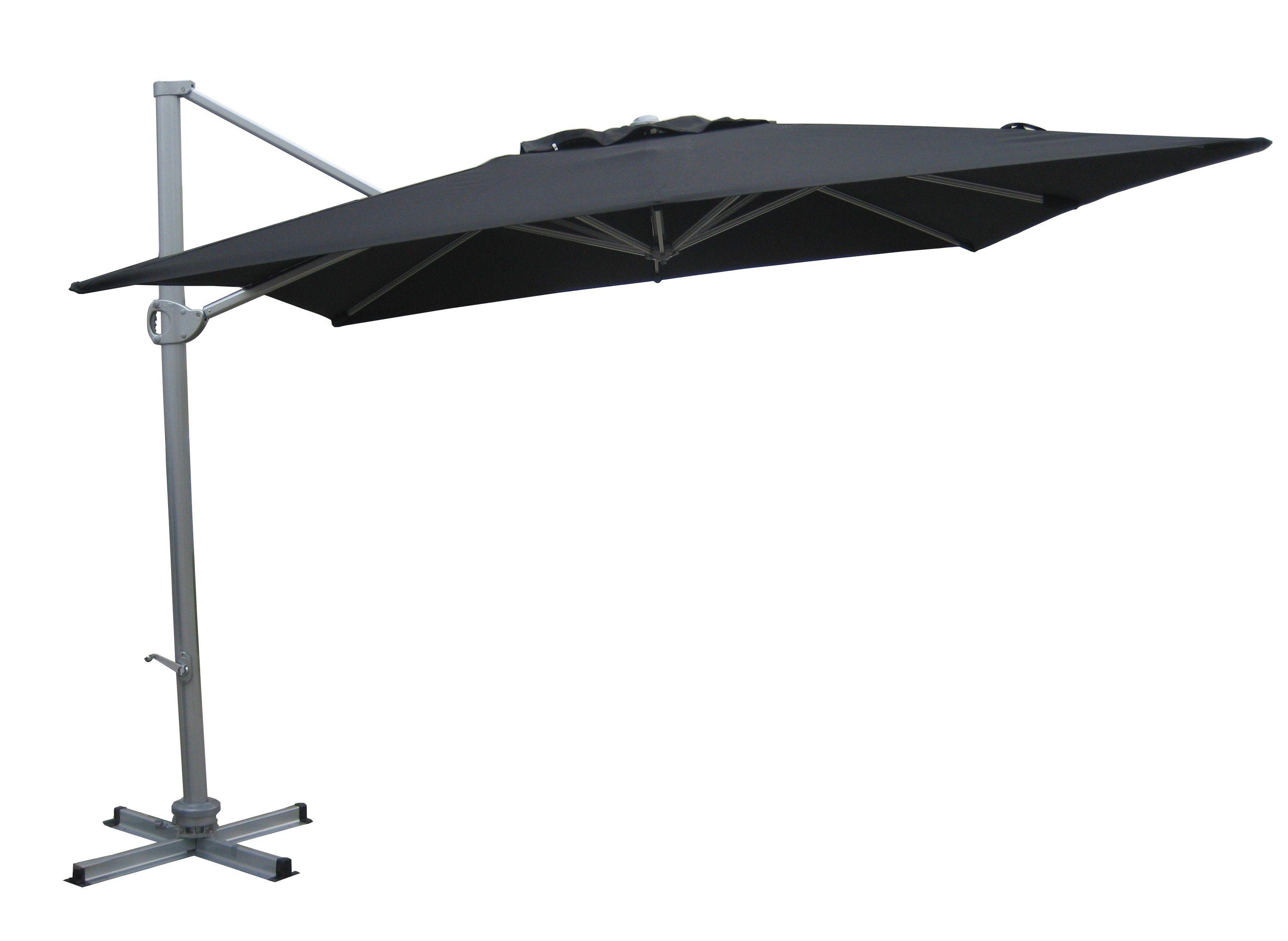 Aluminium cantilever outdoor umbrella 3 x 3m square for Ikea cantilever umbrella