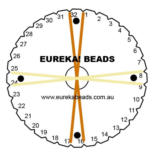 Golden Magatama Beaded Round Kumihimo Braid: Project Instructions