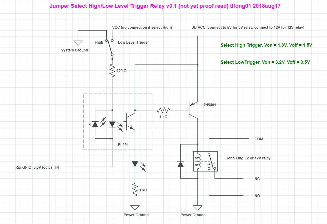"""schematic 1 Relay Module High/Low Level Trigger""的图片搜索结果"
