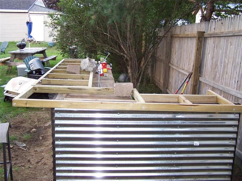 Outdoor Bar Build Thread Warning Large Pics Patio Ideas Pinterest