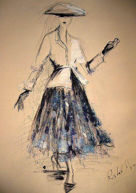 Dior's new look illustration