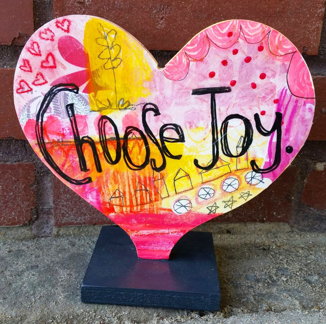 Choose Joy Heart Sculpture By Doripatrickart On Etsy