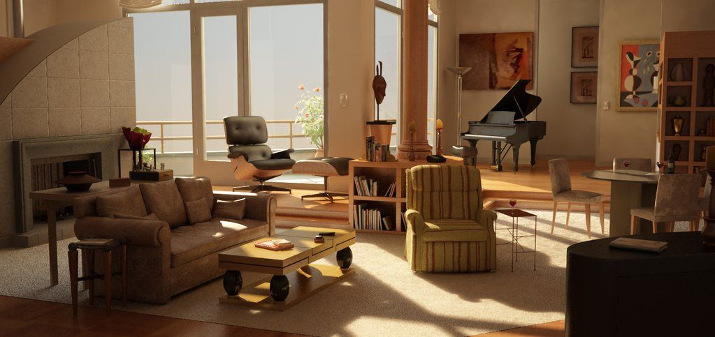 Frasier S Apartment Again By Neonduck On Deviantart