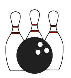 Bowling transparent. Icon background sports cards