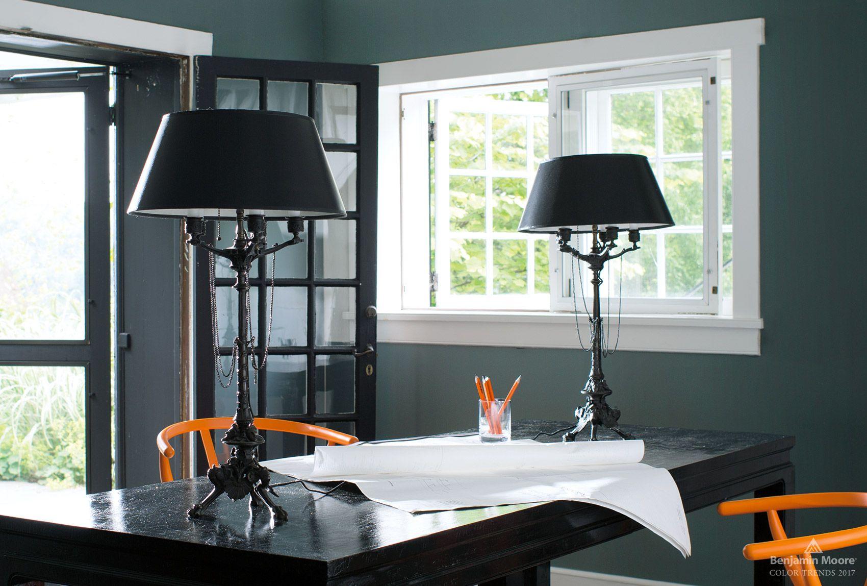 Home interior colors orange  color trends  benjamin moore green walls and condos